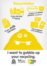 Recycling poster - text version