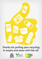 Recycling - thumbs up version