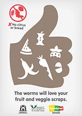 Worm farm - thumbs up version